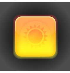 Sunny app icon design element vector image