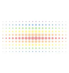 Target bullseye spectral halftone array vector