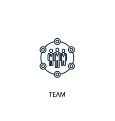 team concept line icon simple element vector image