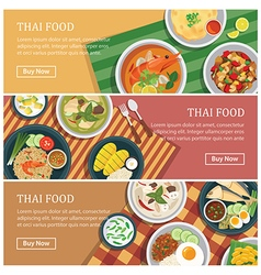 Thai food web bannerThai street food coupon vector image