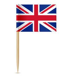 United kingdom flag toothpick vector