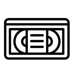 Videotape line icon vhs tape vector