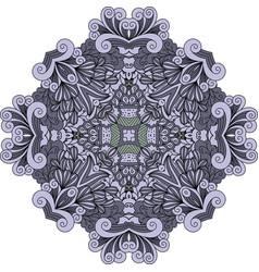 violet doodle decorative element vector image
