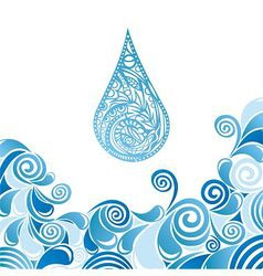 Water drops pattern vector image