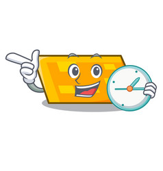 with clock parallelogram character cartoon style vector image