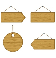 wood signs vector image