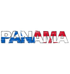 word panama with national flag under it vector image