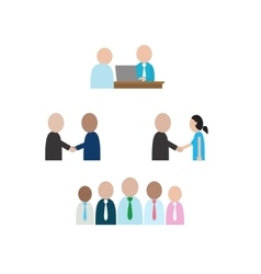 Abstract people character in social business vector image