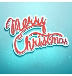 Christmas lettering on a blue background vector image