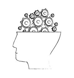 Head human gear idea sketch vector