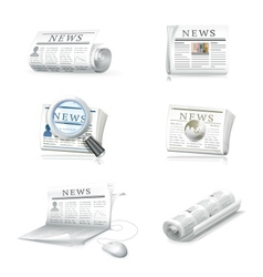 Newspaper collection vector image