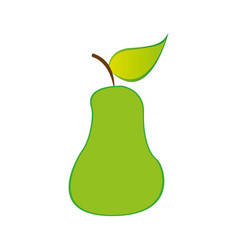 pear fruit icon stock vector image