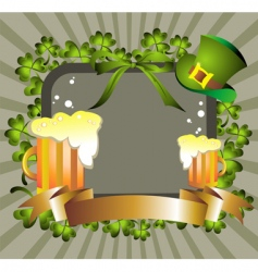 St Patrick's pattern vector image