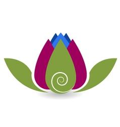 Swirly lotus flower yoga meditation vector image vector image