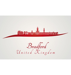 Bradford skyline in red vector image vector image