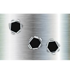 Bullet holes in metal vector image