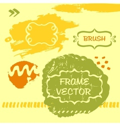 Grungy background and frame vector image