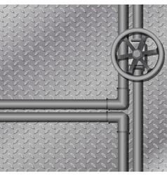 industrial metal background vector image vector image
