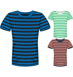 Mens short sleeve t-shirt design templates vector image vector image