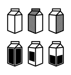 Milk and Juice Box Icons Set vector image vector image
