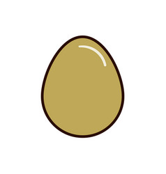 oval egg icon flat for web vector image