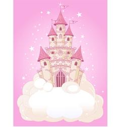 princess fairytail castle vector image