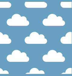 seamless background clouds vector image vector image