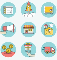 Set of business icons - part 2 vector image vector image