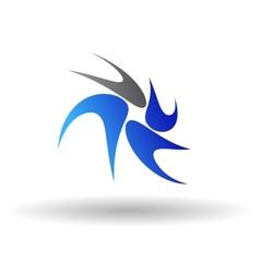 Swirl abstract symbol vector