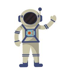astronaut exploration suit space vector image vector image