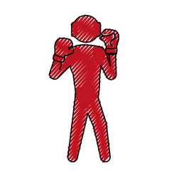 boxing figther trainning vector image vector image
