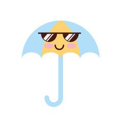 little umbrella isolated icon vector image