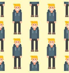 men portrait seamless pattern friendship character vector image vector image