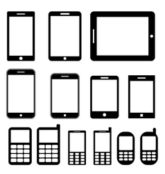 Mobile phones and tablets set vector image vector image