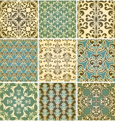 seamless floral paterns vector image