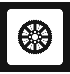 Sprocket for bicycle icon simple style vector image vector image