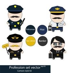 Profession set vector image vector image