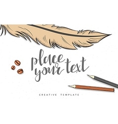 Template design concept sketch for marketing vector image vector image