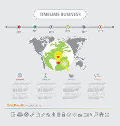 time line infographics design template icons set vector image