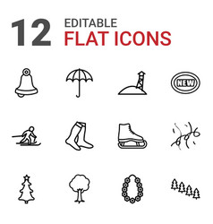 12 season icons vector