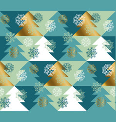 abstract concept christmas tree seamless pattern vector image
