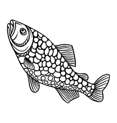 Abstract decorative fish on white background vector