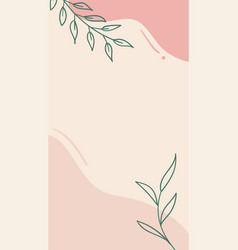 Abstract floral story template for social vector