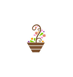 abstract plant decorative logo vector image