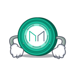 Angry maker coin mascot cartoon vector