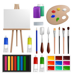 art painting tools and accessories vector image