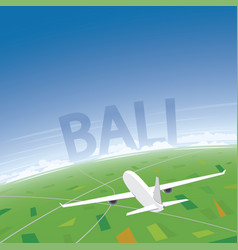 Bali flight destination vector