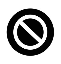 blank ban icon design vector image