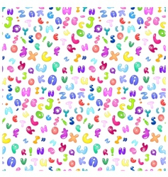 bubble Abc pattern vector image