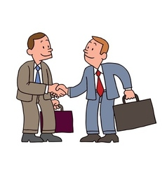 Businessman handshake vector